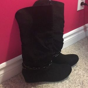 NWOT - Black Suede Boots